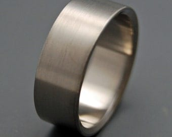 wedding rings, titanium rings, wood rings, mens rings, Titanium Wedding Bands, Eco-Friendly Rings, Wedding Rings - BRUSHED AND NAKED