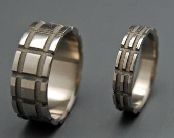 wedding rings, titanium rings, wood rings, mens rings, Titanium Wedding, Eco-Friendly Rings, Wedding Rings - sandblasted MAN WITH a PLAN