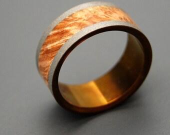 wedding rings, titanium rings, wood rings, mens rings, Titanium Wedding Bands, Eco-Friendly Wedding Rings, Wedding Rings - RING OF FIRE
