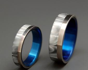 wedding rings, titanium rings, wood rings, mens rings, Titanium Wedding Bands, Eco-Friendly Rings, Wedding Rings - Milky Way