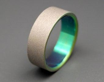 Titanium wedding ring, wedding ring, titaniun rings, mens ring, womens rings, eco-friendly - MIDORI