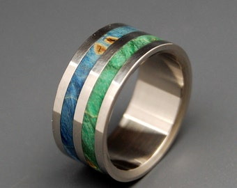 wedding rings, titanium rings, wood rings, mens rings, Titanium Wedding Bands, Eco-Friendly Wedding Rings, Wedding Rings - JUNGLE VINES