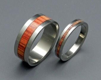 wedding ring, titanium rings, wood rings titanium wedding ring, men's ring, women's ring - TULIP