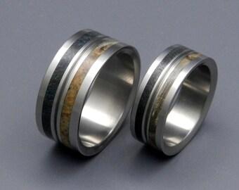 wedding rings, titanium rings, wood rings, mens rings, Titanium Wedding Bands, Eco-Friendly Wedding Rings, Wedding Rings - INFINITY