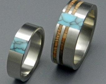 wedding rings, titanium rings, wood rings, mens rings, Titanium Wedding Bands, Eco-Friendly Rings, Wedding Rings - KOA COMET CONSTELLATION