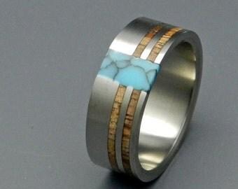 wedding ring, titanium rings, wood rings titanium wedding ring, men's ring, women's ring - COMET AND CONSTELLATION