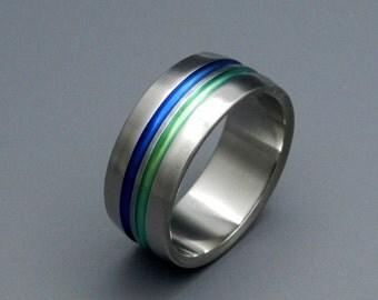 wedding rings, titanium rings, wood rings, mens rings, Titanium Wedding Bands, Eco-Friendly Rings, Wedding Rings - OLYMPIA