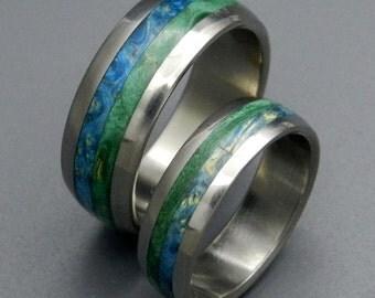 wedding rings, titanium rings, wood rings, mens rings, Titanium Wedding Bands, Eco-Friendly Rings, Wedding Rings - BLISS