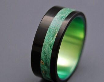 Wooden Wedding Rings, titanium ring, titanium wedding rings, Eco-friendly rings, mens ring, womens rings, wood rings - GALWAY
