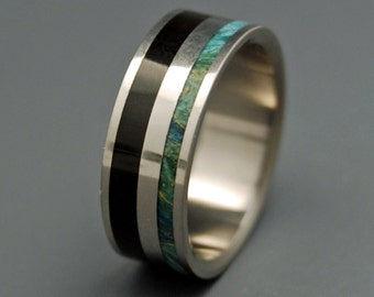 wedding ring, titanium rings, wood rings, titanium wedding ring, men's ring, women's ring, antler, horn ring - OBI