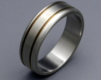 titanium wedding ring mens ring womens ring eco friendly non - Non Traditional Wedding Rings