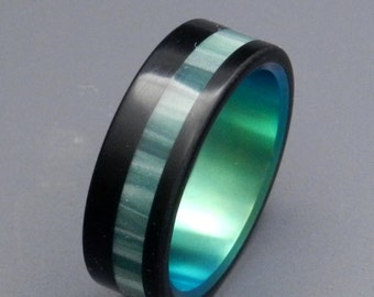 wedding rings, titanium rings, wood rings, men's ring, women's ring, unique ring, engagement, commitment - GREEN AVEC VOUS