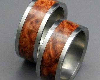 wedding rings, titanium rings, wood rings, men's ring, women's ring, unique wedding ring, engagement rings, commitment ring - AMBER ROSE