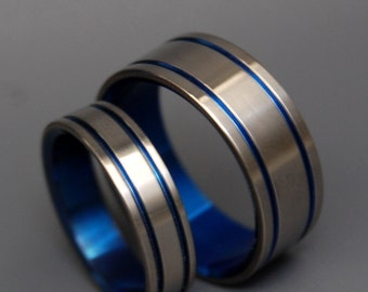 wedding rings, titanium rings, wood rings, mens rings, womens ring, Titanium Wedding Bands, Eco-Friendly Rings - ALMA MATER