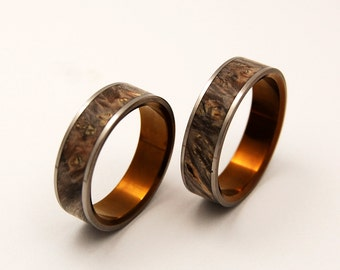 wedding rings, titanium rings, wood rings, mens rings, Titanium Wedding Bands, Eco-Friendly Wedding Rings, Wedding Rings - KHRYSOS