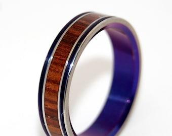 Wooden Wedding Rings, titanium ring, titanium wedding rings, Eco-friendly rings, mens ring, womens rings, wood rings - PRINCESS LEIA