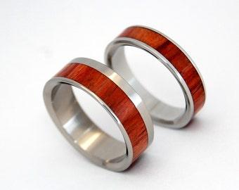 wedding rings, titanium rings, wood rings, mens rings, Titanium Wedding Bands, Eco-Friendly Wedding Rings, Wedding Rings - BREAD AND TULIPS