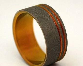 wedding rings, titanium rings, wood rings, men's ring, women's ring, unique ring, engagement, commitment - CHANCE OF LIGHTNING