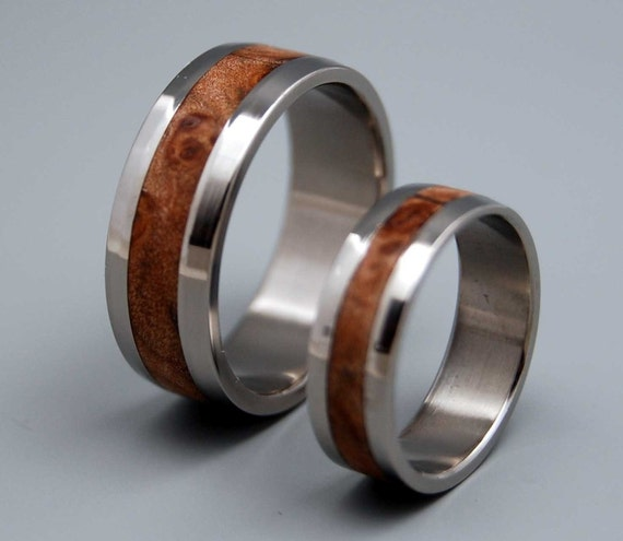 wedding ring, titanium rings, wood rings titanium wedding ring, men's ring, women's ring - MONTPELIER