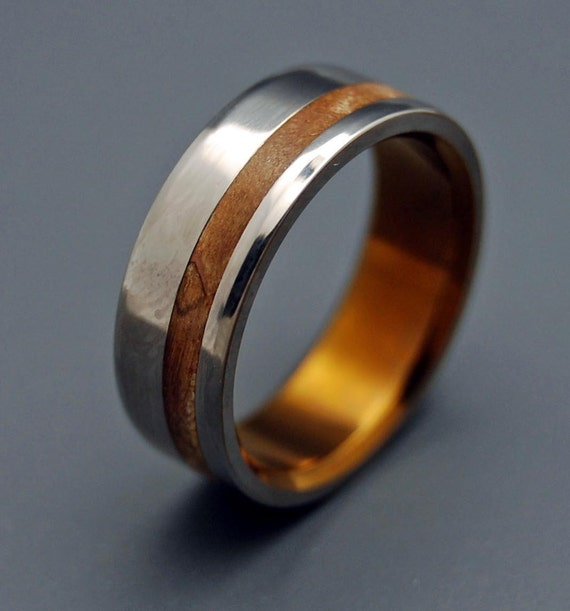 Wooden Wedding Rings: Silver Faun Wooden Wedding Rings By MinterandRichterDes On