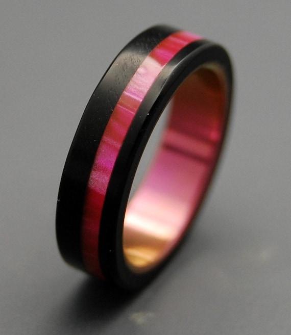 Titanium rings, wedding rings, titanium wedding rings, eco-friendly rings, mens ring, women's ring - PINK AVEC VOUS