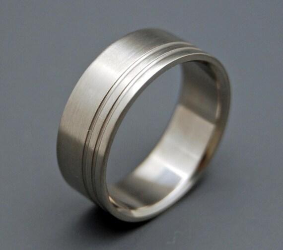 Titanium Wedding Ring, men's ring, woman's ring, wedding band, commitment ring, satin finish, matte - DUET