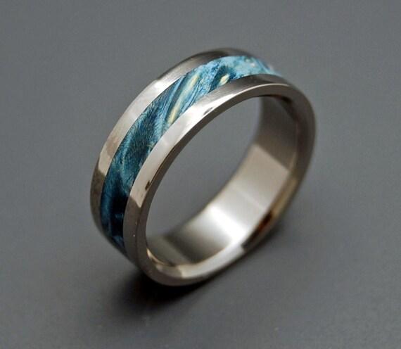 Wooden Wedding Rings,  Titanium Wedding Band, wedding rings, titanium rings, men's rings, women's rings, wood ring - STARRY STARRY NIGHT