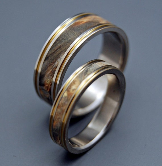 Titanium Wooden Wedding Rings, Mens Rings, Womens Rings, Unique Rings, Popular Rings, Eco-Friendly Wedding Rings - WIND IN WILLOWS