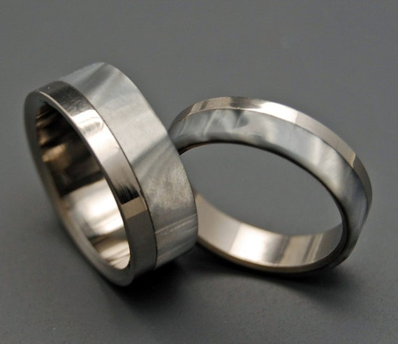 wedding rings, titanium rings, wood rings, mens rings, Titanium Wedding Bands, Eco-Friendly Wedding Rings, Wedding Rings - SMOKE AND MIRRORS