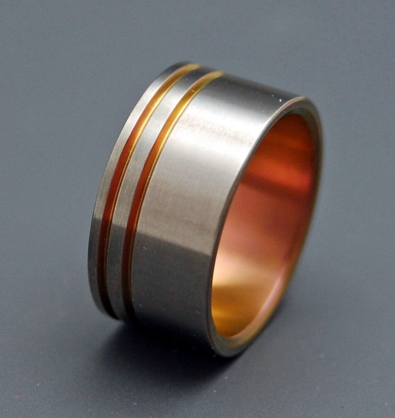 Titanium wedding ring, wedding ring, titaniun rings, mens ring, womens rings, eco friendly - SEE YOU at SUNSET