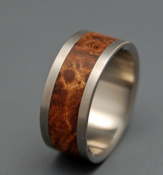 wedding ring, titanium rings, wood rings titanium wedding ring, men's ring, women's ring - FOR the LOVE of MAPLE