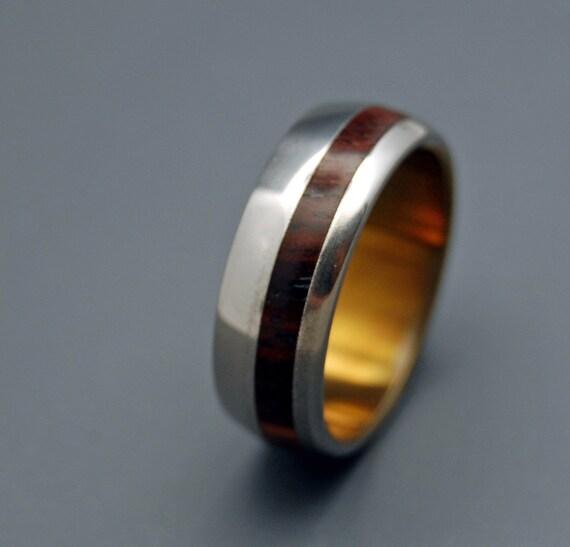 wedding ring, titanium rings, wood rings titanium wedding ring, men's ring, women's ring - CASABLANCA