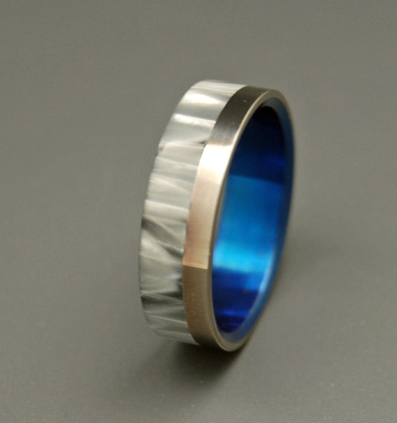 wedding rings, titanium rings, wood rings, mens rings, Titanium Wedding Bands, Eco-Friendly Rings, Wedding Rings - MILKY WAY