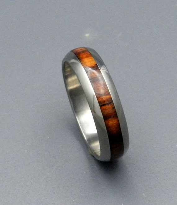 wedding rings, titanium rings, wood rings, mens rings, womens ring, Titanium Wedding Bands, Eco-Friendly Rings - CATAMOUNT