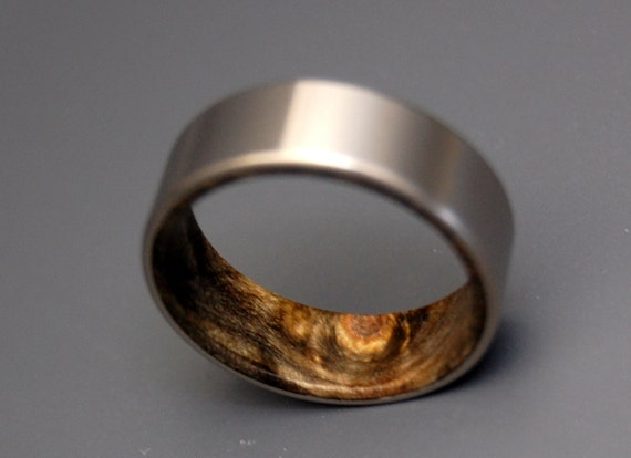 wedding rings, titanium rings, wood rings, mens rings, Titanium Wedding Bands, Eco-Friendly Wedding Rings, Wedding Rings - KORE II
