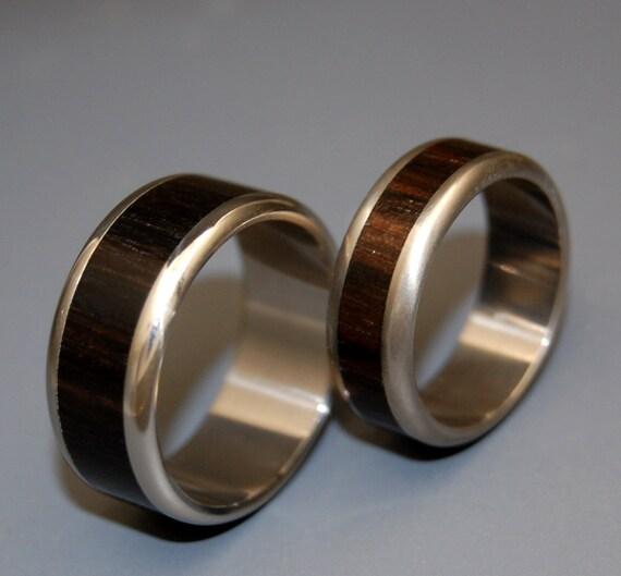 wedding ring, titanium rings, wood rings titanium wedding ring, men's ring, women's ring - MOLUCCAS MACASSAR