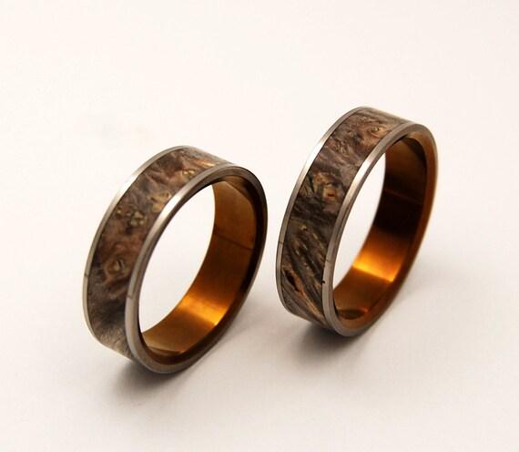 wedding rings, titanium rings, wood rings, mens rings, Titanium Wedding Bands, Eco-Friendly Wedding Rings, Wedding Rings - KHRYSOS
