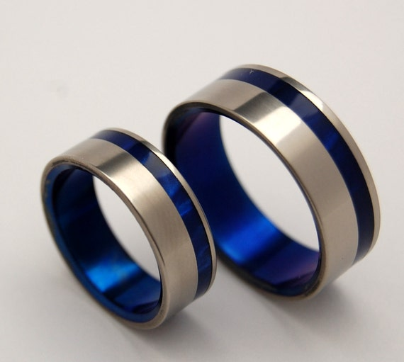 wedding rings, titanium rings, wood rings, mens rings, Titanium Wedding Bands, Eco-Friendly Rings, Wedding Rings - TO the WINDS RESIGN