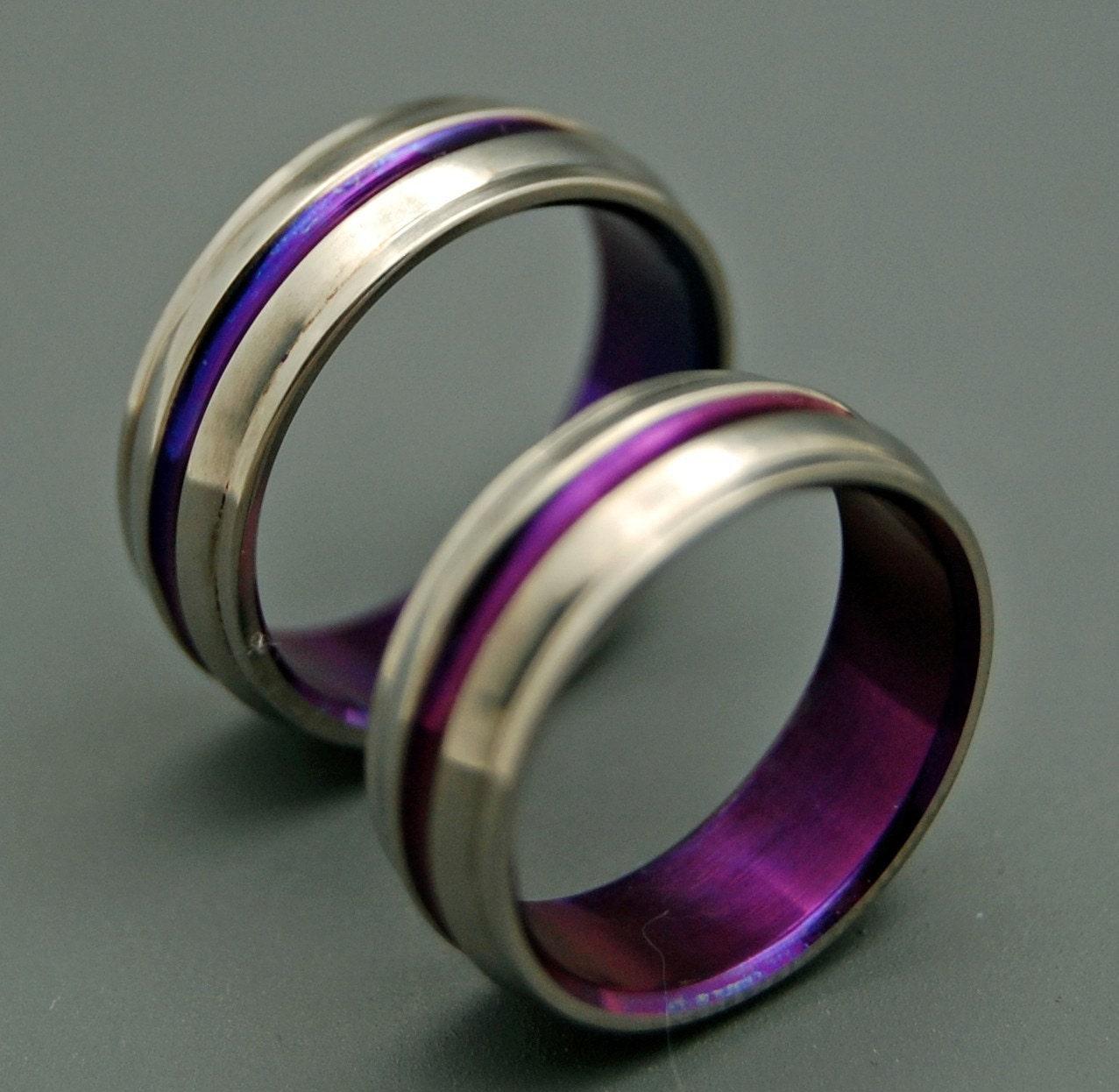 Titanium Wedding Bands Wedding Rings Titanium Rings Purple