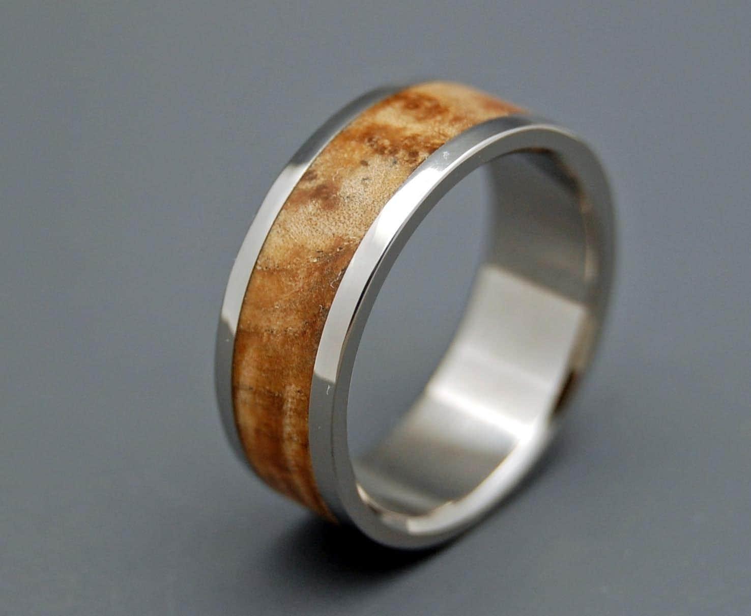 Wooden Wedding Rings Titanium Wedding Rings Wood Rings Mens