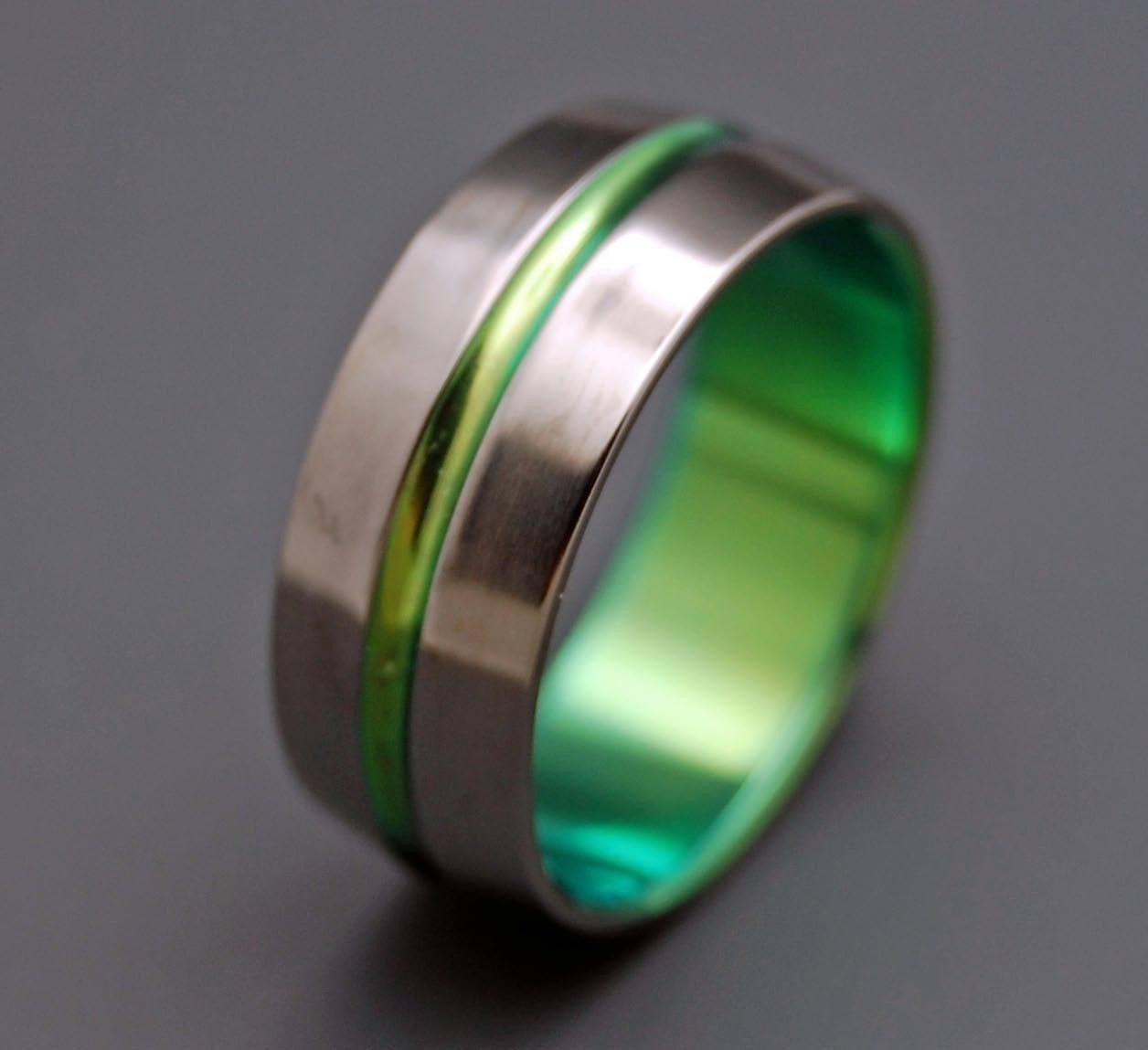 titanium wedding ring wedding ring titaniun rings mens ring womens rings - Green Wedding Rings