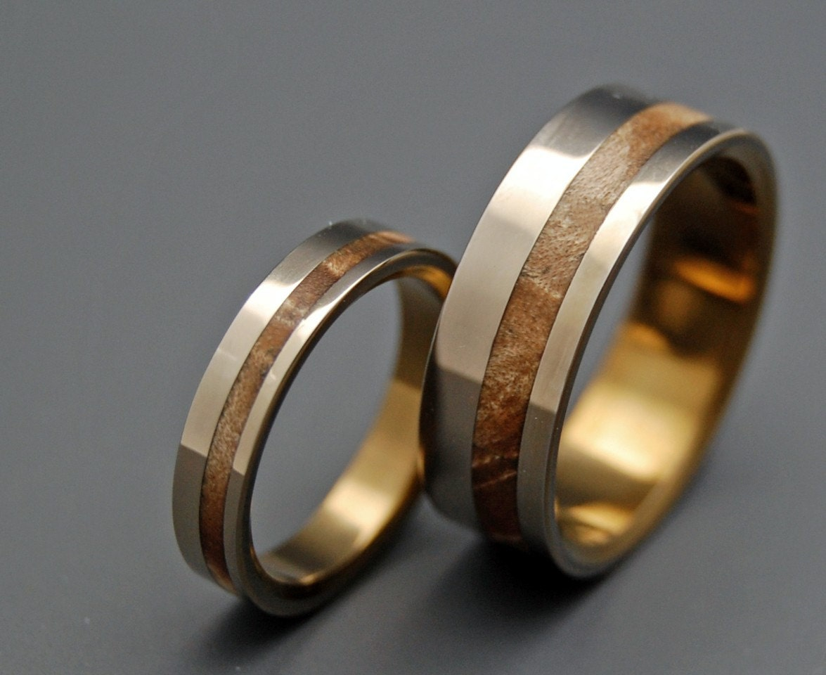Wooden Wedding Rings Titanium Wedding Ring Unique Wedding