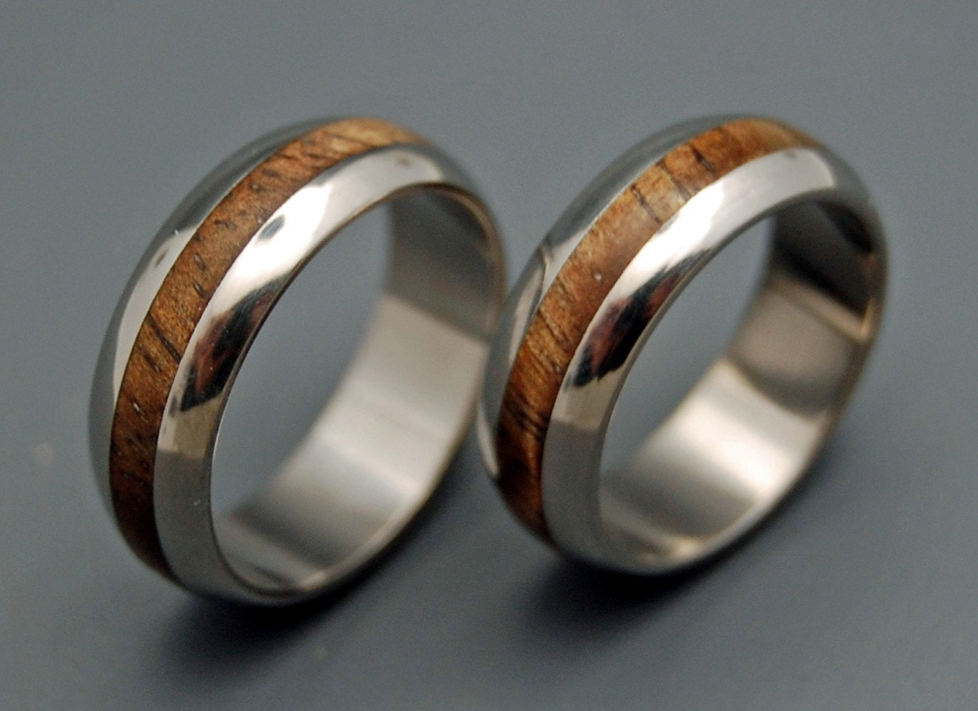 Wedding ring titanium rings wood rings titanium wedding for Design your own wooden ring