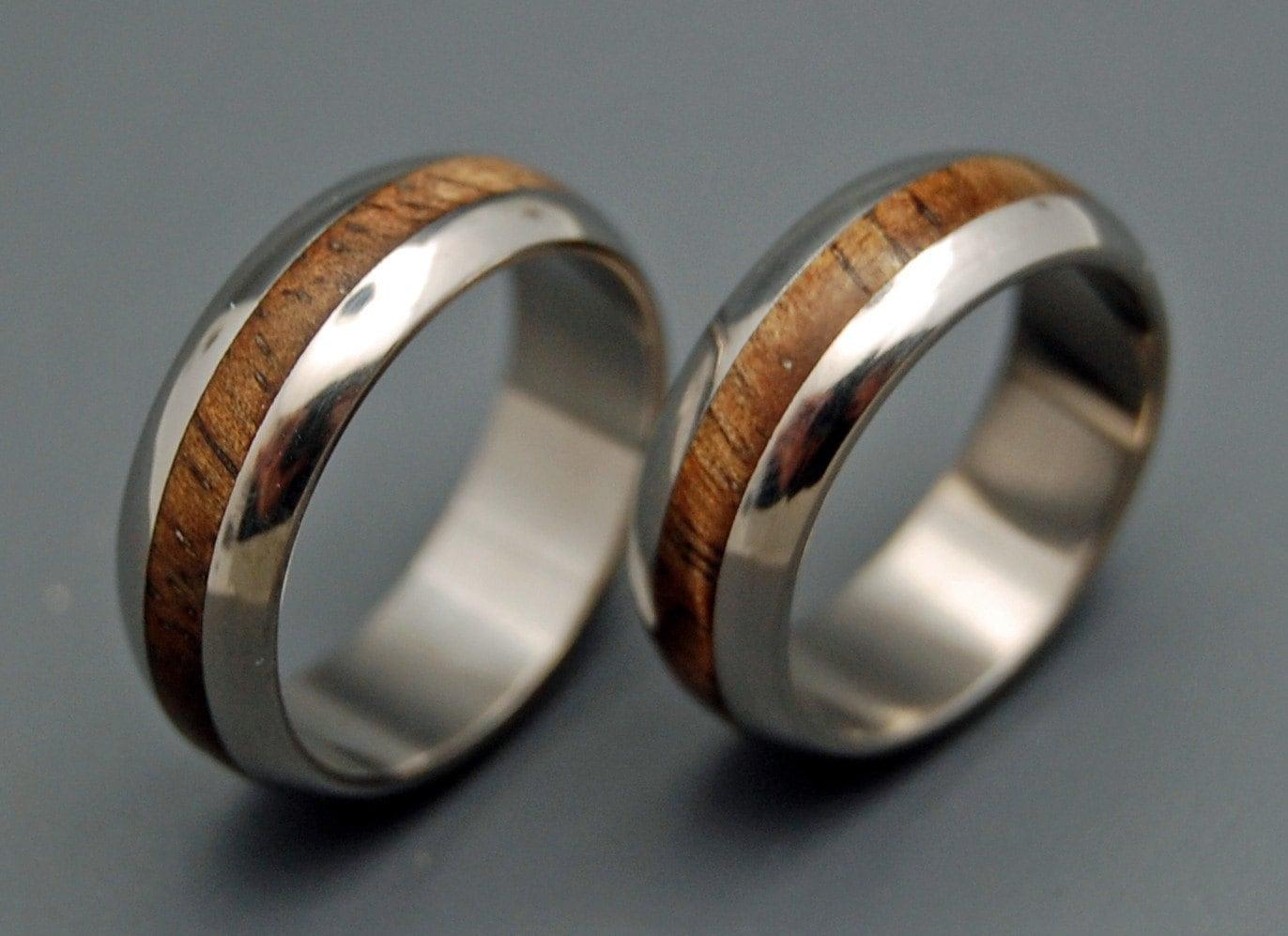 Wedding Ring Titanium Rings Wood Rings Titanium Wedding