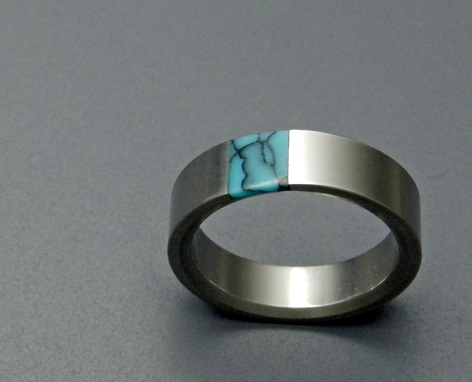 wedding rings titanium rings wood rings turquoise wedding ring zoom