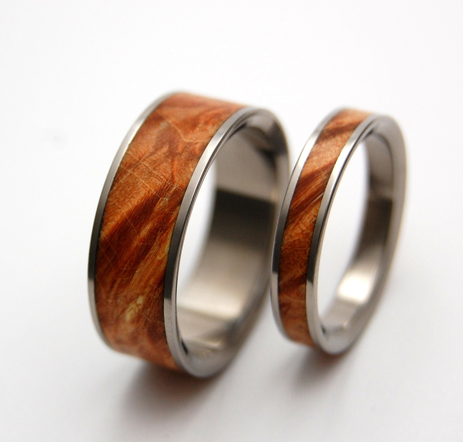 Wood Mens Wedding Bands: Wedding Rings Titanium Rings Wood Rings Mens Rings