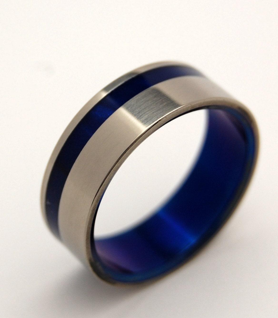 titanium wedding ring turquoise band turquoise ring unique