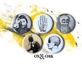 Weird and Wonderful - pinback set of 5