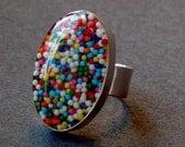 Sprinkles Ring - Oval  Adjustable