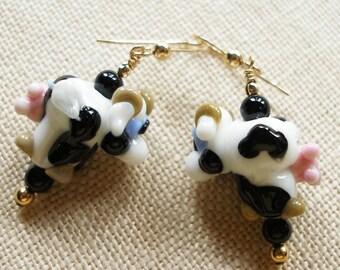 Cow Earrings